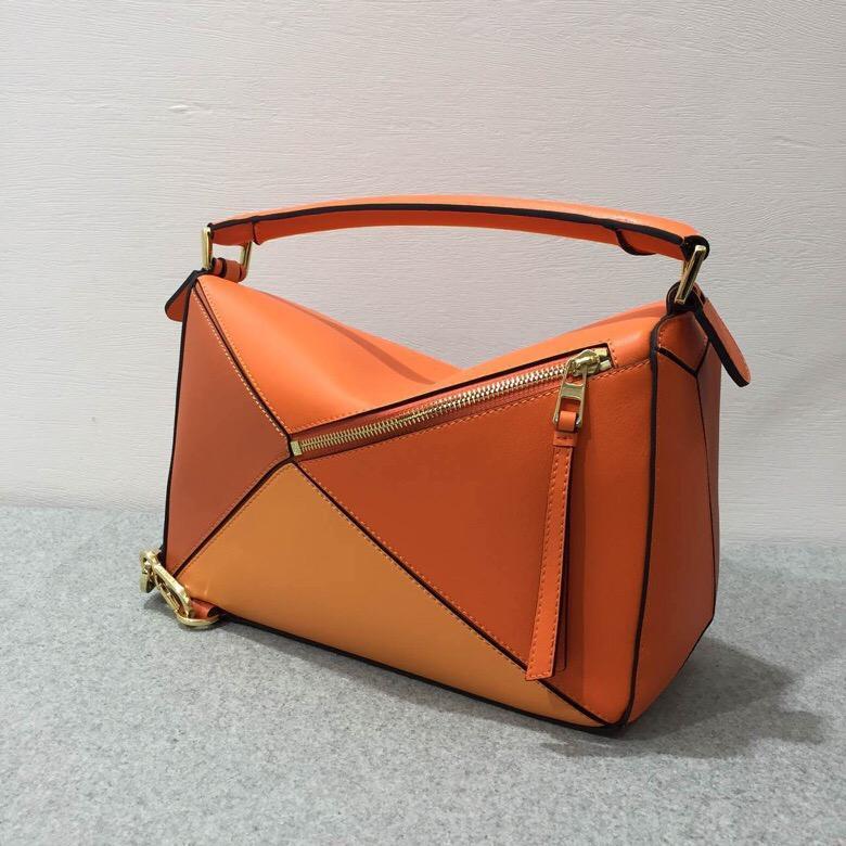 Loewe Puzzle Bag Orange Multitone經典小牛皮手袋 Puzzle明星包款