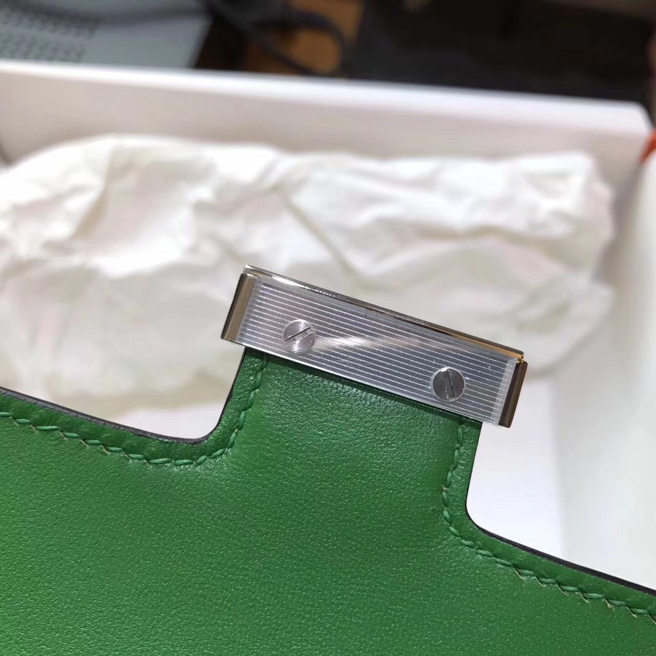 愛馬仕康斯坦斯包 Hermes Constance 18 Epsom 1K竹子绿 银扣