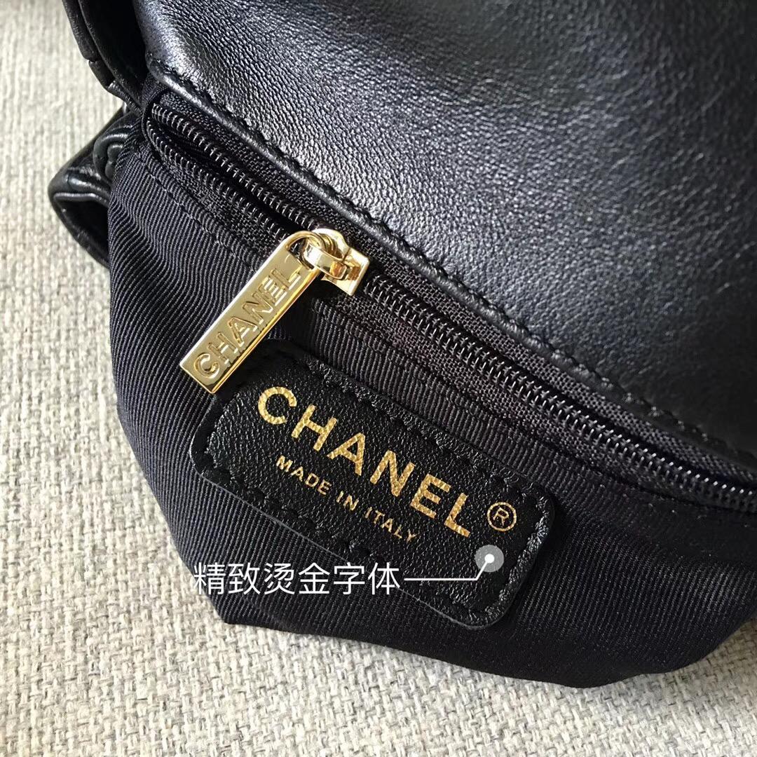 小香2018新款三層風琴包 黑色小羊皮