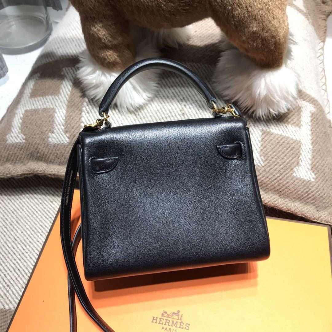 愛馬仕Hermes Kelly Doll Swift calfskin 黑色CK89/Q5國旗紅限量款凱莉娃娃包