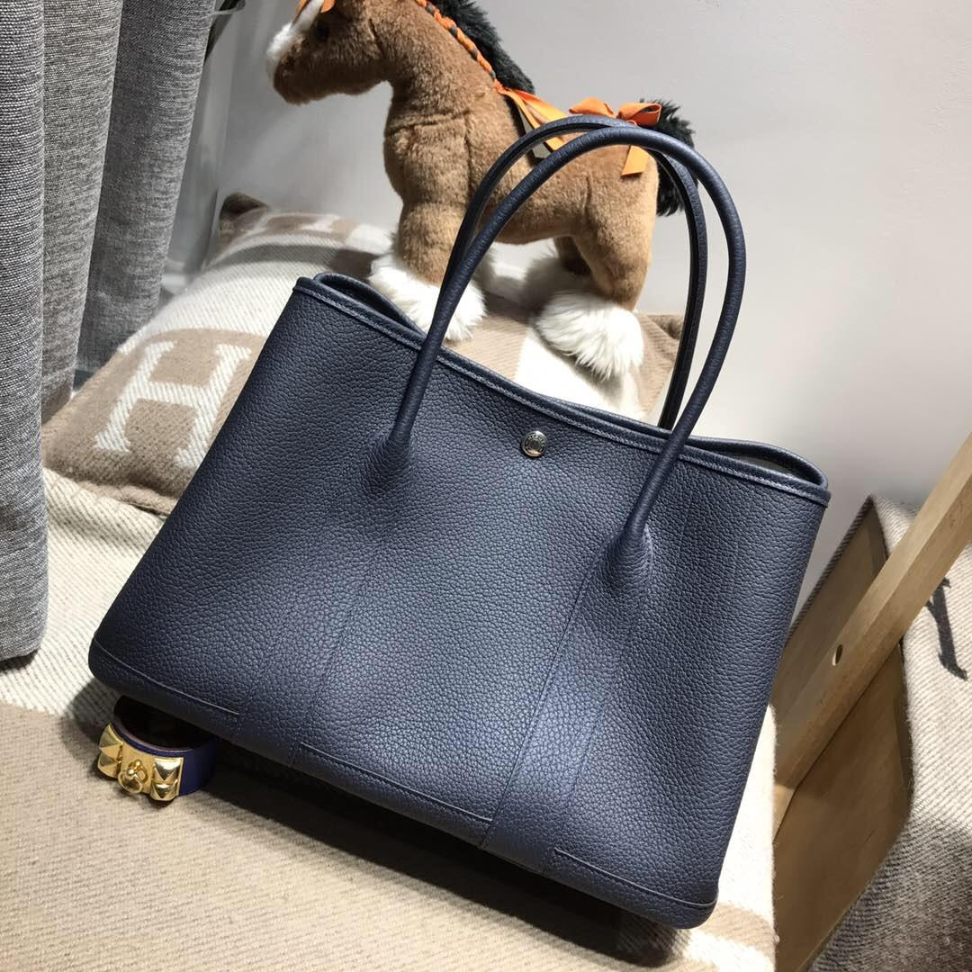 Hermes Garden Party bag 36 空中花園包Negonda牛皮 CK73 Blue saphir寶石藍
