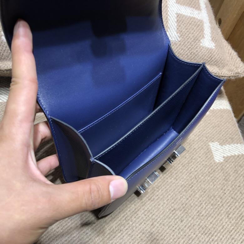 愛馬仕空姐包 康斯坦斯包 Hermes Constance 18 Epsom 7K BlueRoy寶石藍琺瑯扣