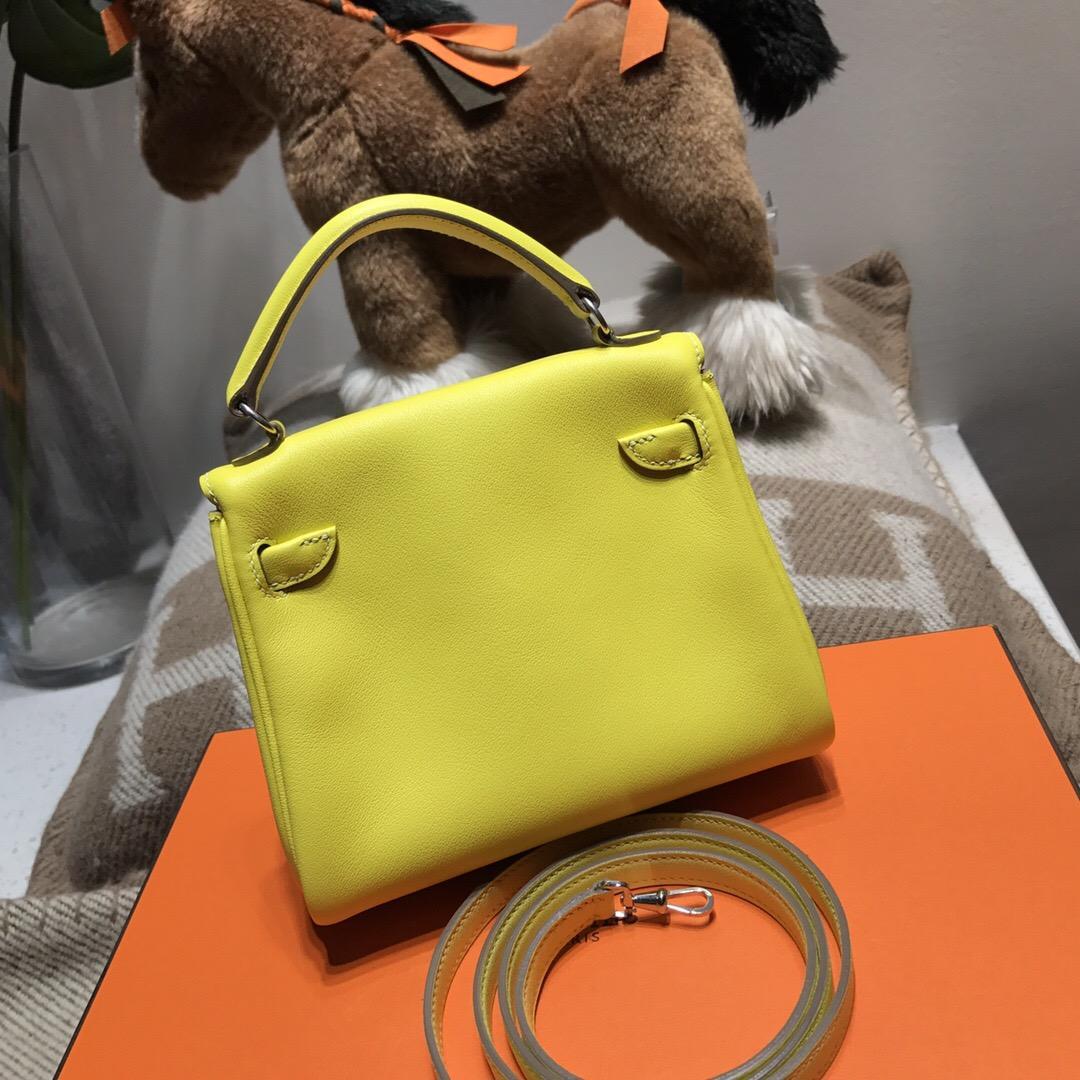 Hermes Kelly Doll Swift calfskin 9H Soleil 檸檬黃 千喜年限量款愛馬仕凱莉娃娃包