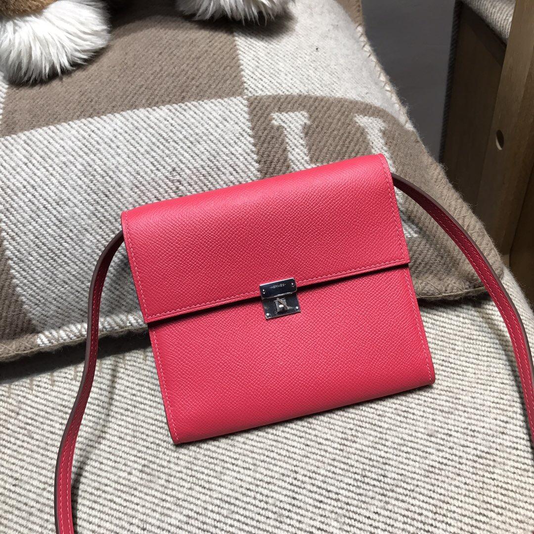 愛馬仕Hermes Clic bag Epson極致粉色 I6 Rose Extreme 銀扣