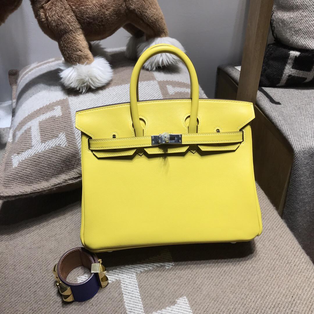 愛馬仕鉑金包 Hermes birkin 25 bag swift D9湖泊黃色18年最新的顏色