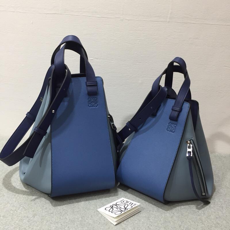 羅意威包包 loewe Hammock Medium Bag Varsity Blue Multitone