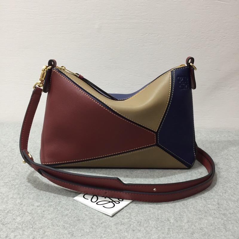 1ea11df228f73 Loewe Puzzle Pochette Bag Brick Red Almond-Hermes birkin kelly bag