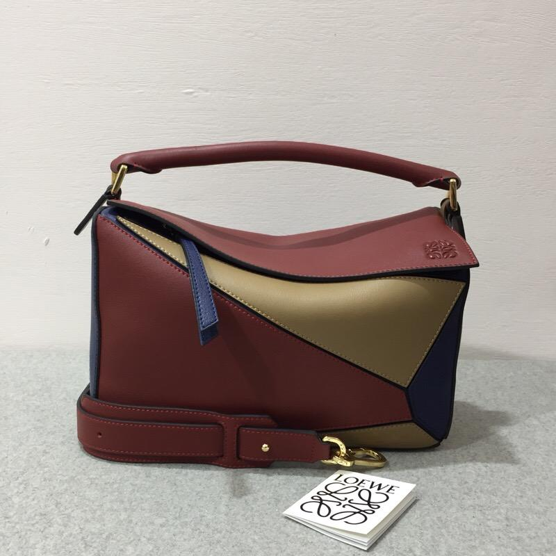 Loewe Puzzle Bag Brick Red/Almond 紅棕色/杏色