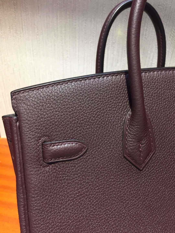 愛馬仕鉑金包價格2018 Hermes Birkin Bag 25 Togo小牛皮 CK57波爾多酒紅