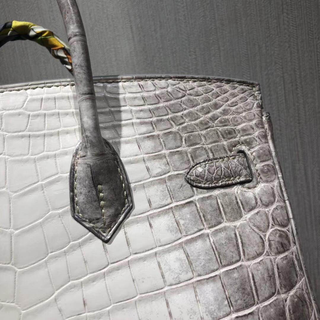 愛馬仕鱷魚皮鉑金包 Hermes Birkin 25cm Bag Natura鱷魚皮 Himalaya喜馬拉雅色