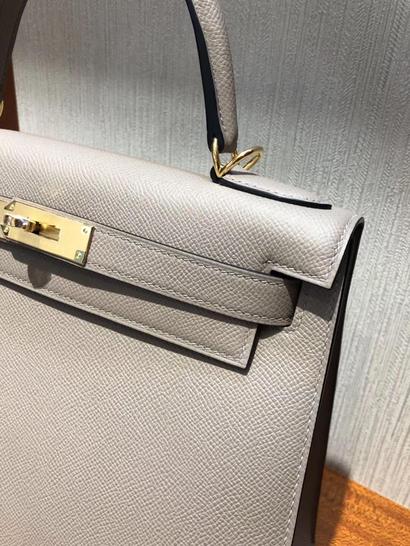 Hermes Kelly 28cm bag M8瀝青灰 Epsom皮手掌紋 全手工蜜蠟線縫 金扣