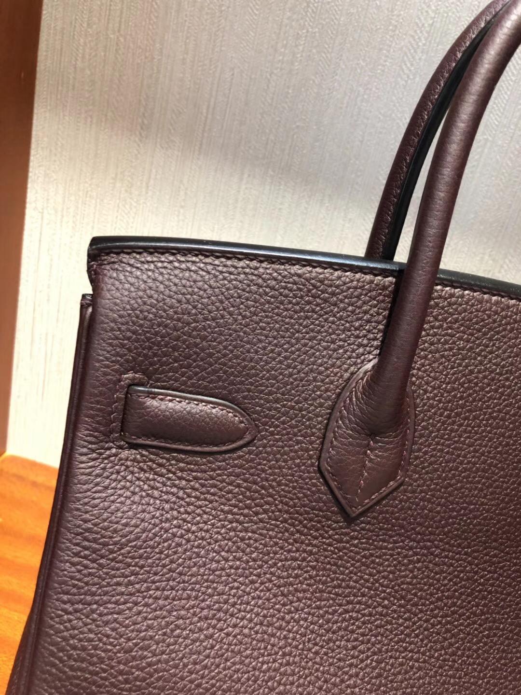 愛馬仕鉑金包包價格 Hermes Birkin 30cm Bag CK57波爾多酒紅 Togo小牛皮 金扣