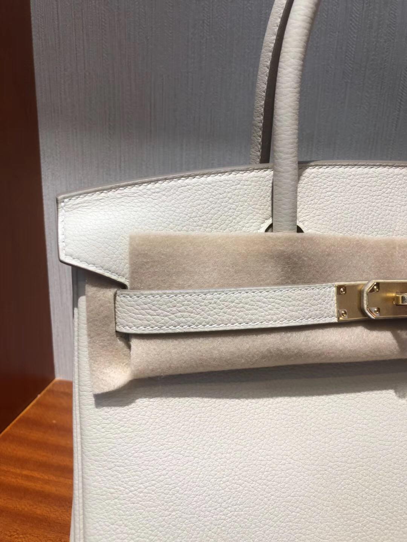 愛馬仕鉑金包價格2018 Hermes Birkin 30cm Togo小牛皮 CK10奶昔白金扣