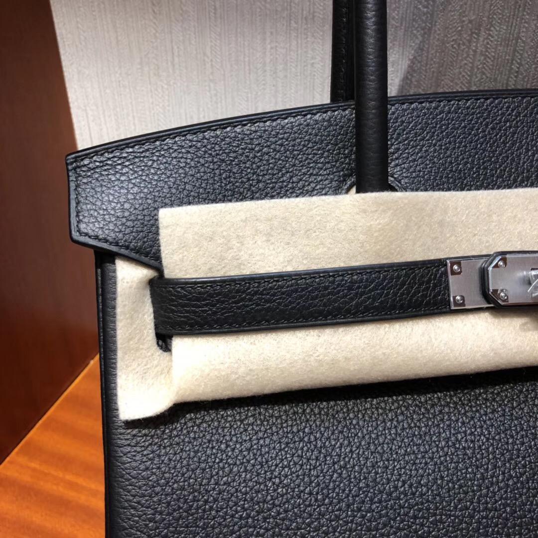Hermes Birkin 30 Bag CK89 Black Togo GHW 小牛皮 銀扣