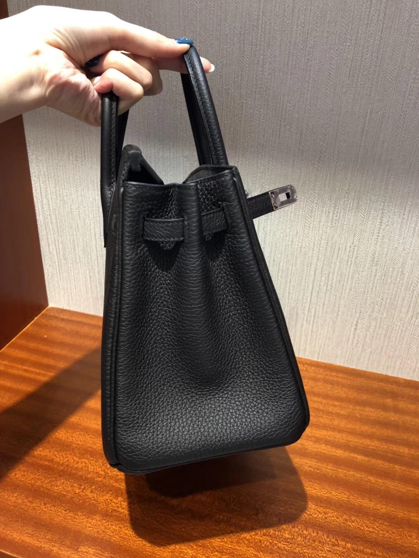 愛馬仕官網包包價格Hermes Birkin 25 Bag CK89 Black Togo GHW小牛皮 銀扣