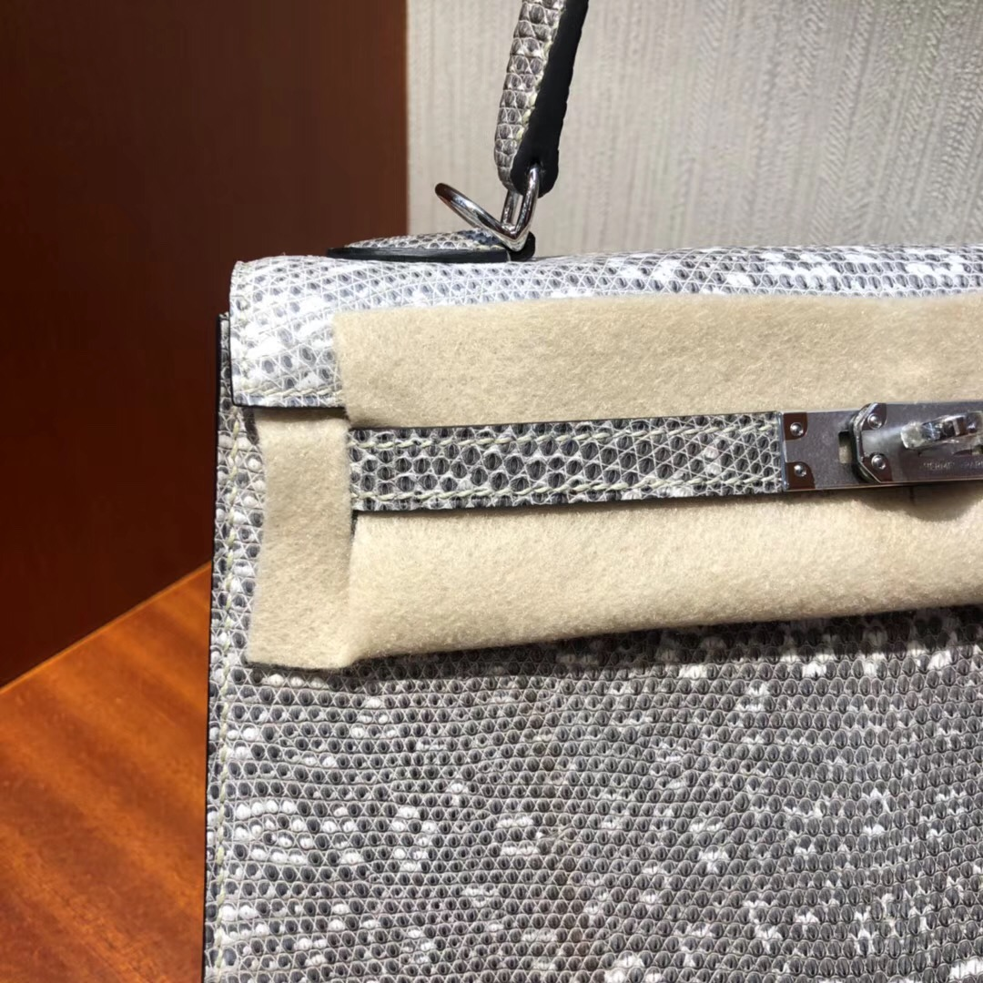 愛馬仕凱莉包 Hermes Kelly 25cm Bag 01自然色蜥蜴皮Lizard 全手工蜜蠟線縫