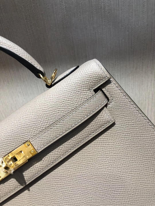 愛馬仕包包價格 Hermes Kelly 25 bag M8瀝青灰 Epsom皮手掌紋金扣