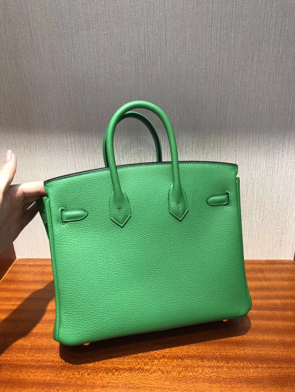 愛馬仕臺北寶麗廣場專賣店 Hermes 1K竹子绿 铂金包Birkin 25Togo皮 金扣