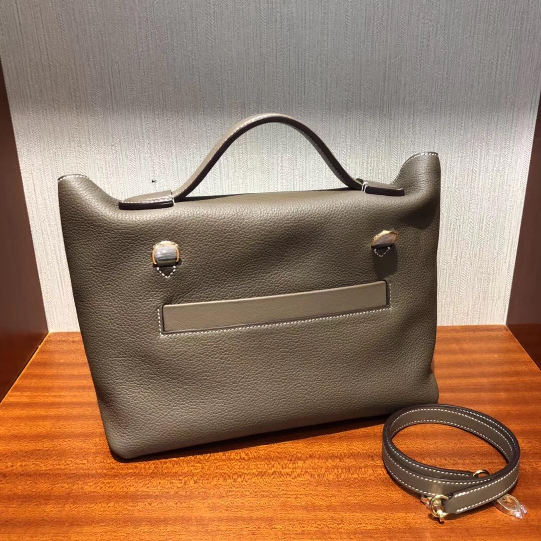 馬來西亞 吉隆坡柏威年廣場專賣店Hermes Kelly 24/24 Bag CK18大象灰金扣
