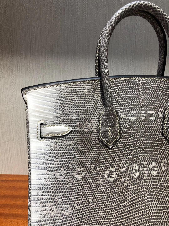 愛馬仕喜馬拉雅蜥蜴皮柏金包 Hermes Birkin Bag 25 01自然色 雪花纹蜥蜴皮