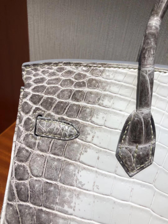 愛馬仕限量版鱷魚皮 Hermes Birkin 25 Bag鱷魚皮Himalaya喜馬拉雅色