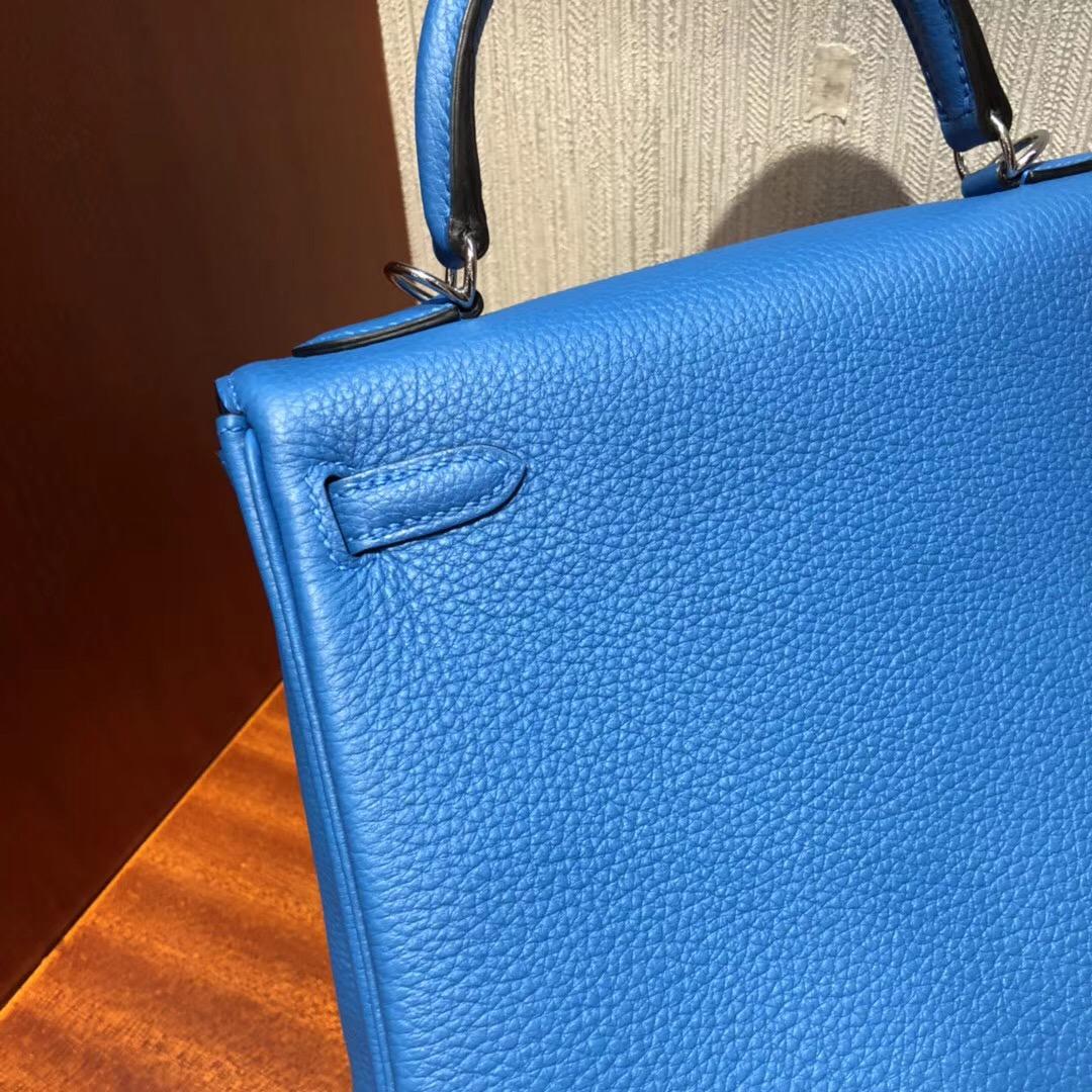 愛馬仕凱莉包價格大概多少錢 Hermes 凱莉包Kelly 25 B3坦桑尼亞藍原廠Swift皮