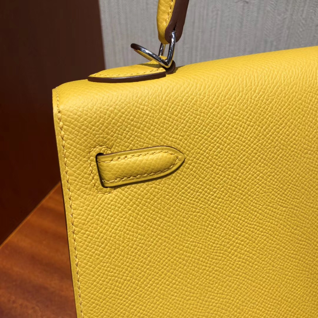 愛馬仕凱莉包包開箱 Hermes Kelly 28cm Bag 9D琥珀黄 Epsom牛皮