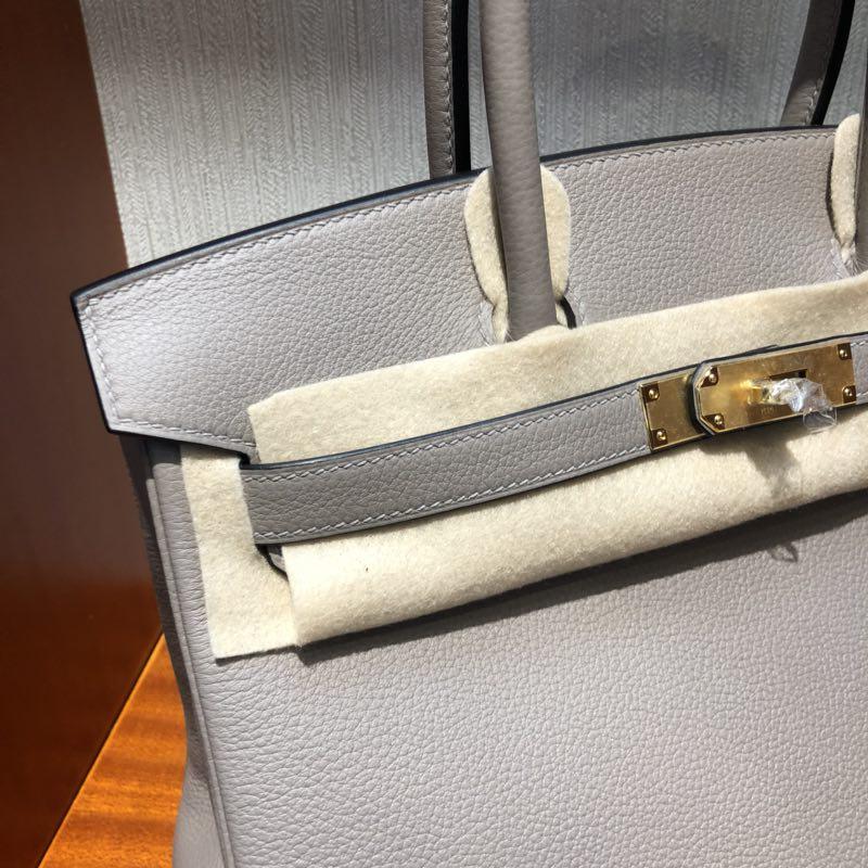 愛馬仕鉑金包圖片價格 Hermes Birkin 30cm M8沥青灰 Gris Asphalte Togo小牛皮