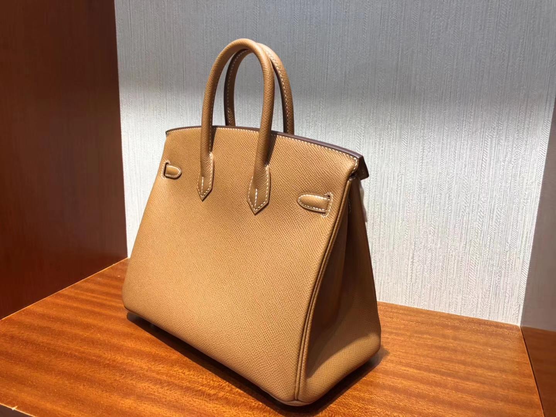 愛馬仕新加坡官網 Hermes Birkin 25cm Epsom CK37金棕色禦用手掌紋 金扣