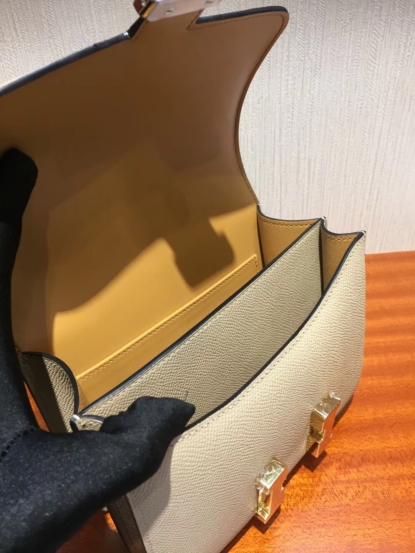 愛馬仕空姐包價格 圖片 Hermes Constance S2風衣灰 18cm Epsom 手掌紋