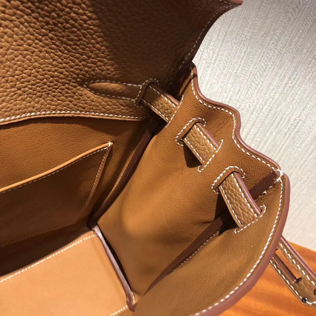 愛馬仕雙肩包 Hermes Kellyado CK37 Gold金棕色 Hermes ADO Kelly書包