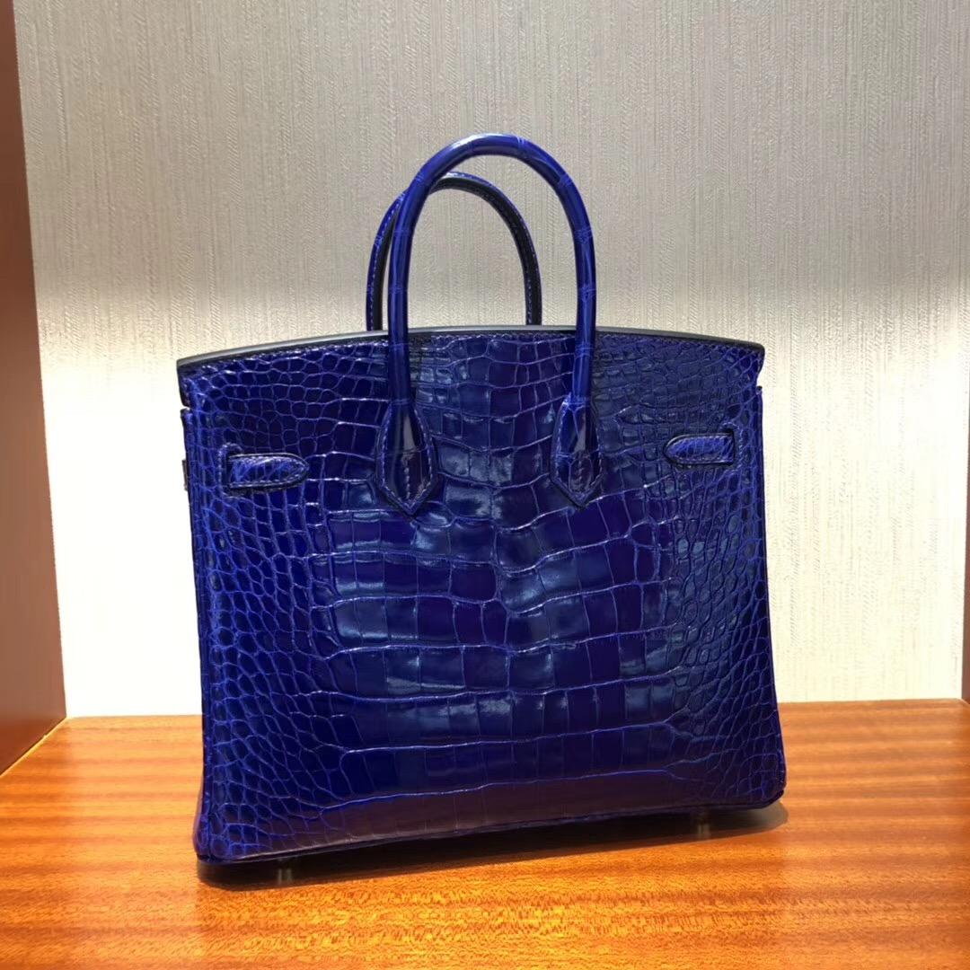 新加坡賓海灣金沙購物商城奢侈品 Hermes Birkin 25 7T電光藍 Blue electrique金扣