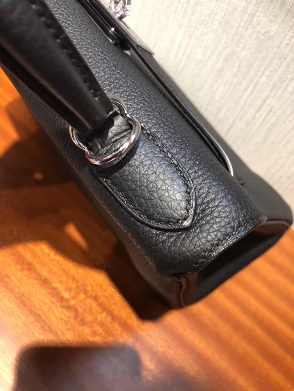 愛馬仕凱莉真假包鑒別 Hermes Kelly 25cm CK89黑色Togo皮 金扣