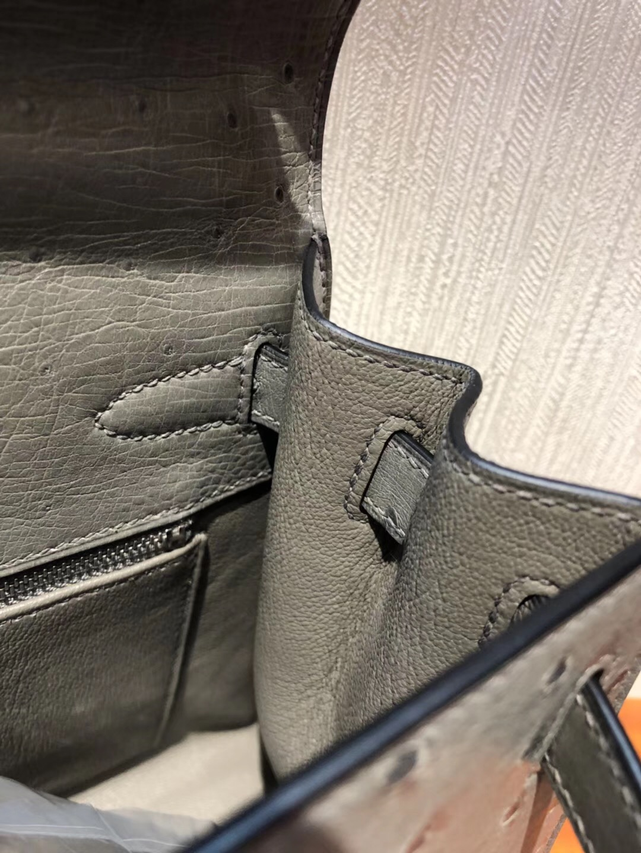 愛馬仕kelly包包 Hermes Kelly 28 bag 8M巴黎灰 南非KK鴕鳥皮Ostrich