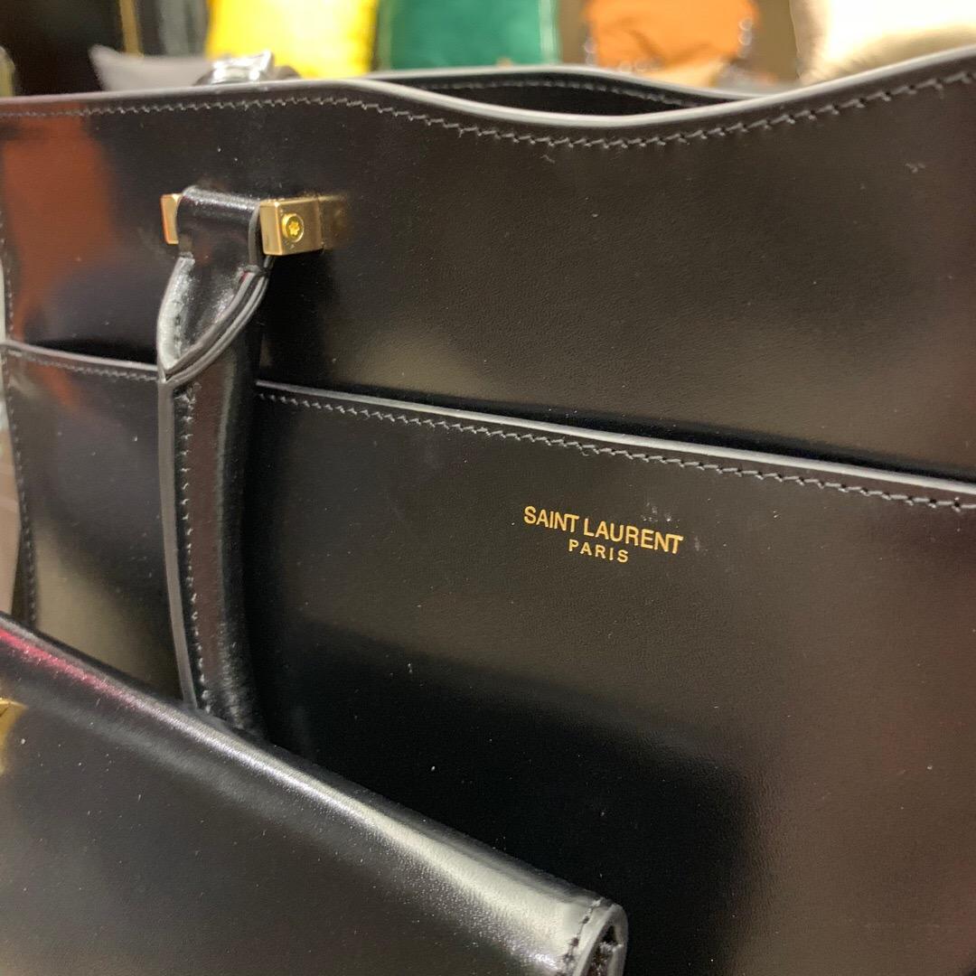 YSL包包官網 UPTOWN 中號鏡面皮聖羅蘭手提袋