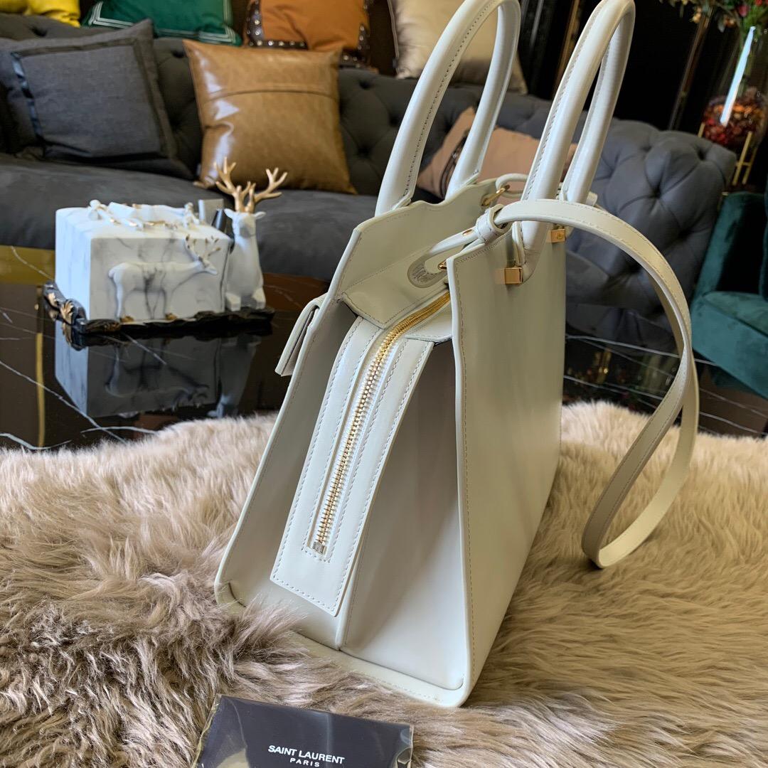 圣罗兰包包 YSL UPTOWN 中號鏡面皮 小牛皮 手提袋