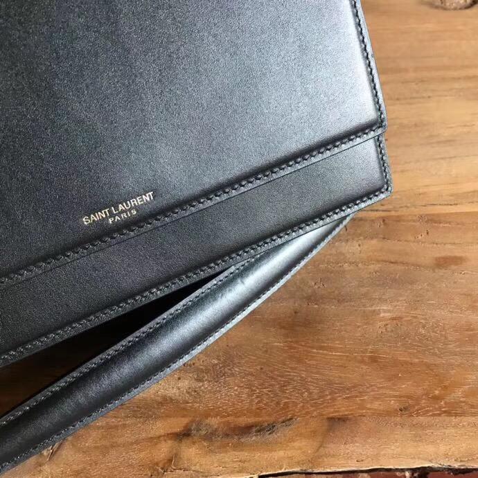 聖羅蘭包包香港價格 YSL ZOE最新款 進口黑色小牛皮