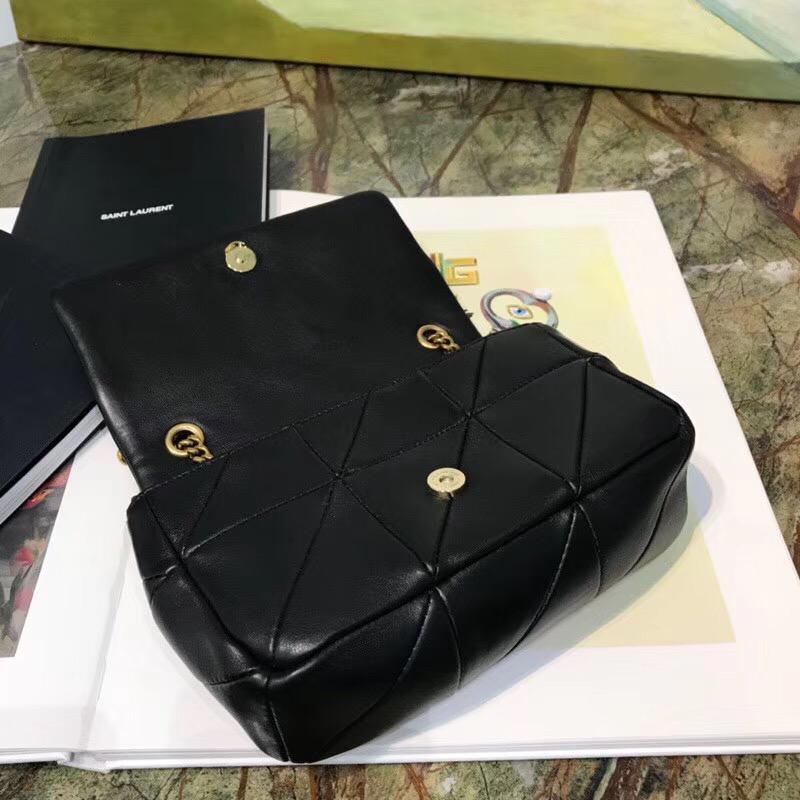 聖羅蘭臺灣包包官網 YSL包包官網 MINI JAMIE小號黑色拼接真皮包