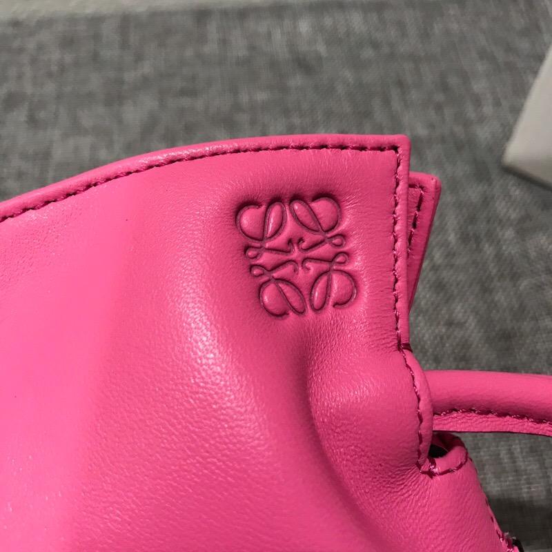 羅意威包包官網 LOEWE Mini Flamenco Knot Bag Wild Rose