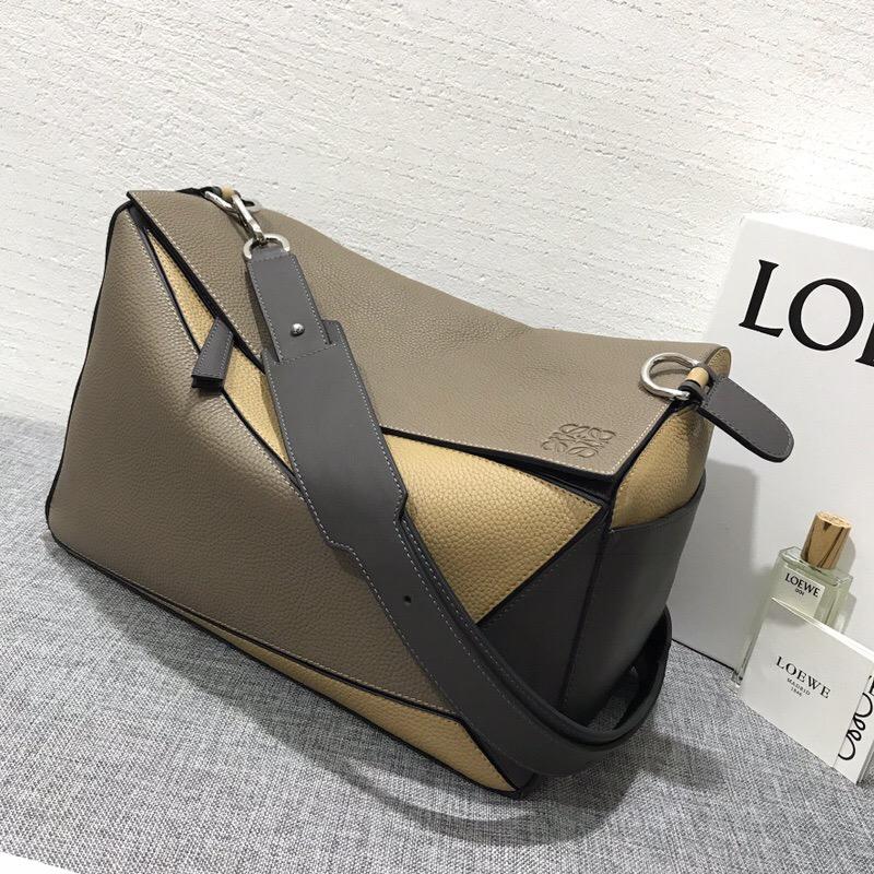 羅意威包包香港官網 LOEWE Puzzle Xl Bag Dark Taupe/Desert