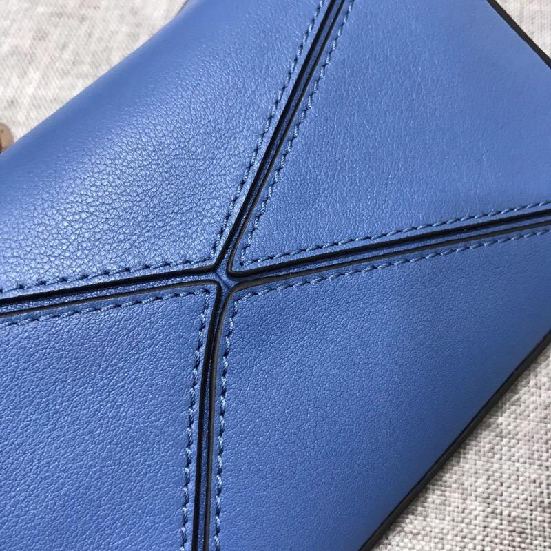 羅意威包包官網價格 LOEWE 迷妳款 Mini Puzzle Bag 蓝色