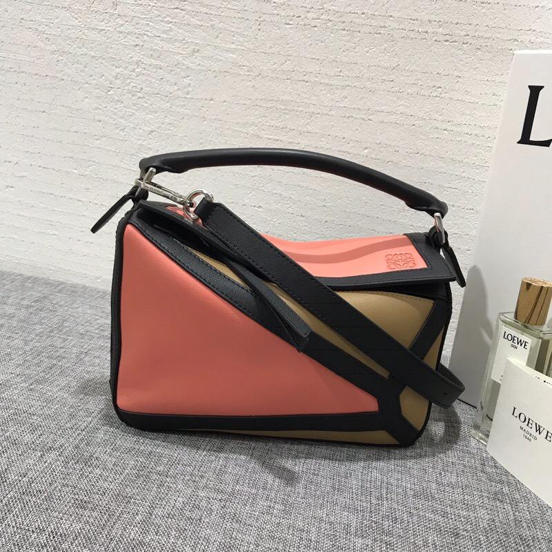 羅意威女包價格LOEWE小號 Puzzle Graphic Small Bag Pink Tulip/Mocca