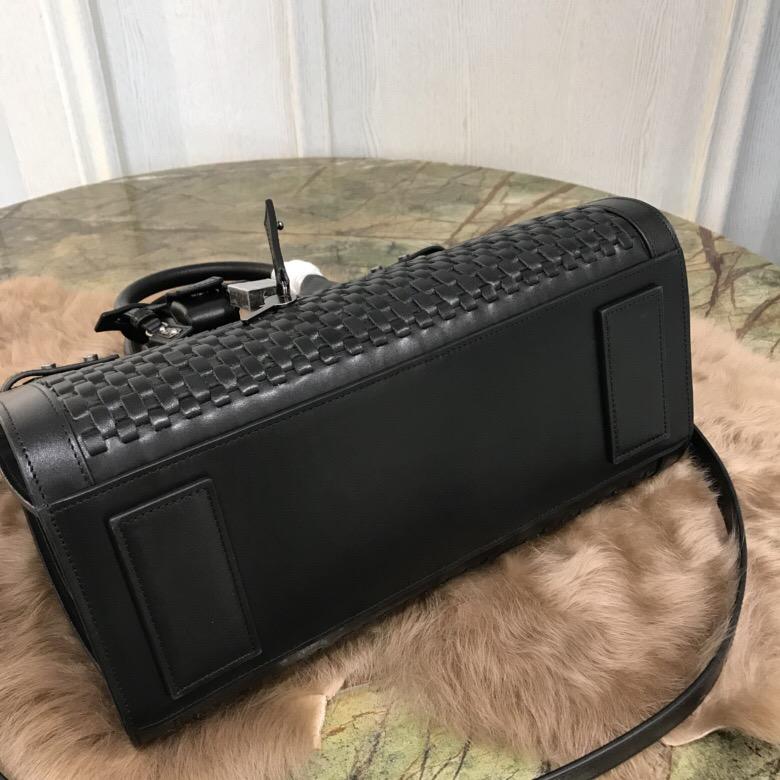 聖羅蘭 YSL 風琴包 經典 SAC DE JOUR 小號純手工編織 黑色真皮手袋