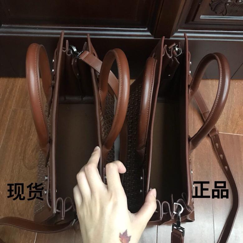 聖羅蘭 YSL 風琴包SAC DE JOUR 小號純手工編織 棕色真皮手袋