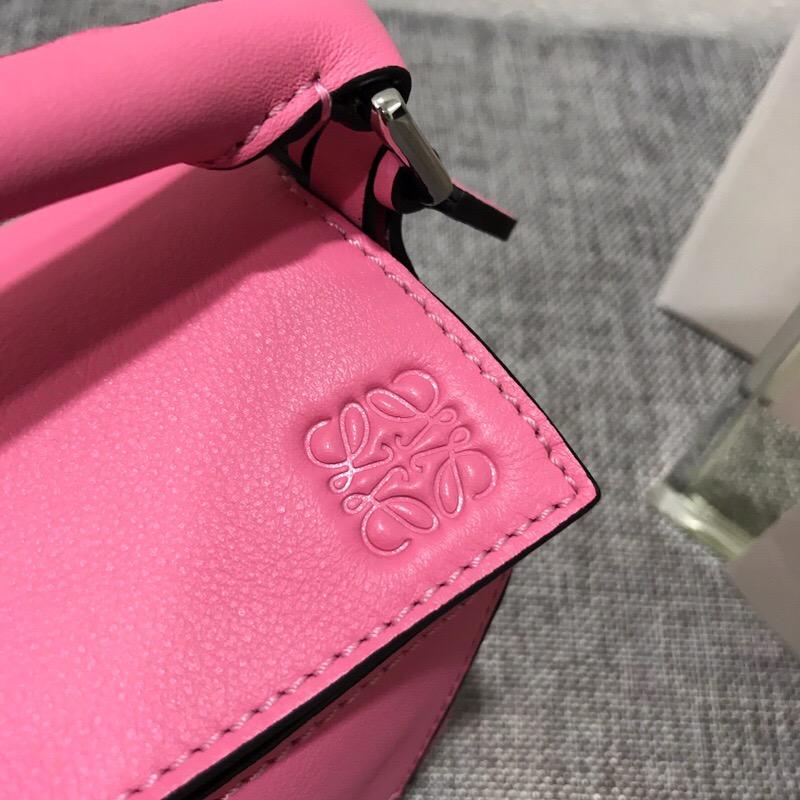 羅意威包包官網價格 迷妳款 LOEWE Mini Puzzle Bag Wild Rose