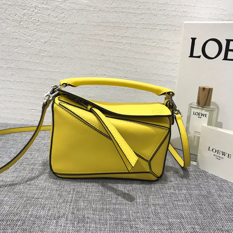 羅意威女包官網價格 迷妳款 LOEWE Mini Puzzle Bag 黃色