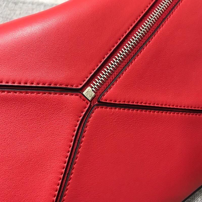 羅意威女包2018新款 LOEWE Puzzle Bag 猩紅色小牛皮