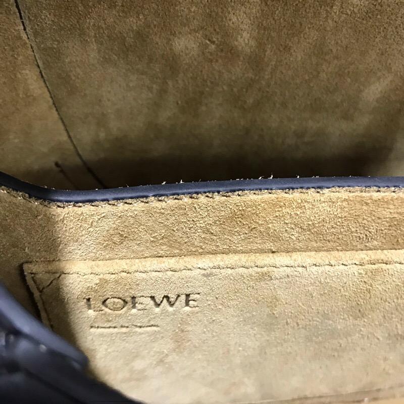 羅意威包包 loewe马鞍包 斜挎包 Gate Frame Small Bag 黑色 粉灰色