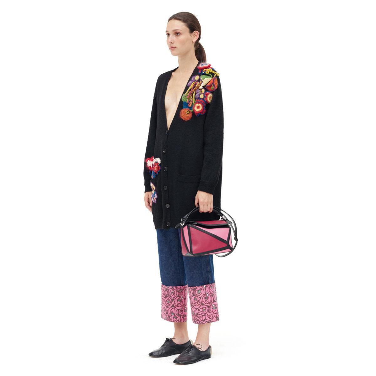 羅意威女包 Loewe Puzzle Graphic Small Bag Raspberry/Wild Rose