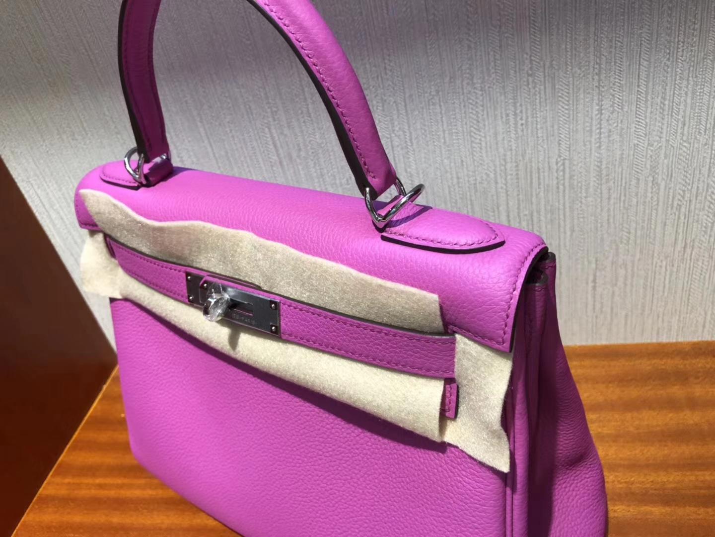 Taiwan Hermes Kelly bag 28cm 9I玉蘭粉Rose Magnolia Togo小牛皮